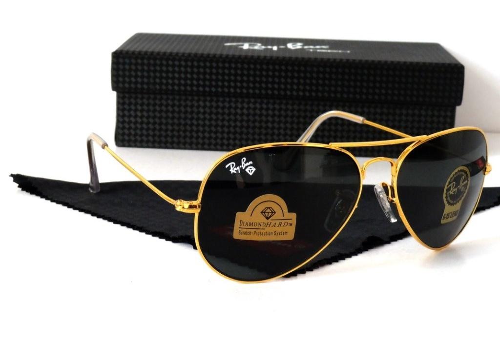 خرید پستی عینک آفتابی اصل و اورجینال خلبانی ری بن شیشه سنگی دیاموند هارد Ray-Ban Aviator RB 3025 Diamond Hard