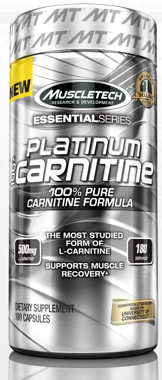 مکمل لاغری ال کارنیتین ماسل تچ MuscleTech L-CARNITINE 180Cap-PLATINUM